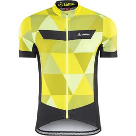 Löffler Metric Bike Jersey Shortsleeve Men yellow/black